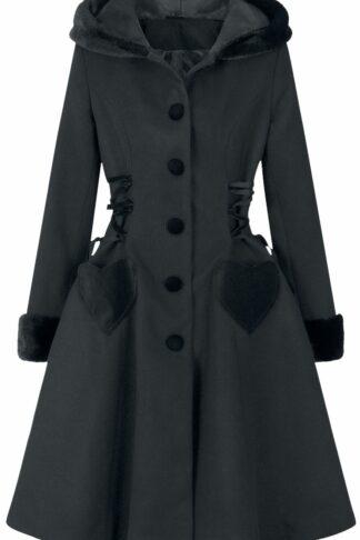 Hell Bunny Scarlett Coat Mantel schwarz