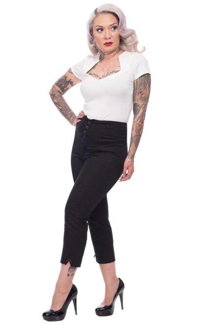 Steady Clothing Millenium Capri, schwarz von Rockabilly Rules