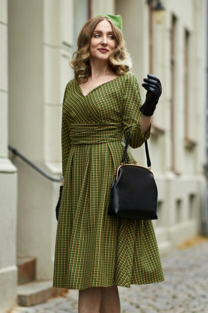 40s Mathilda-Gia Swing Dress in Kelly Green