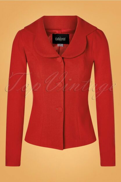 50s Brooke Jacket in Red