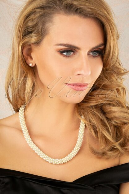 50s Chunky Pearl Necklace in Ivory