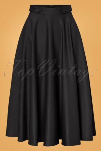 50s Di Di Swing Skirt in Black