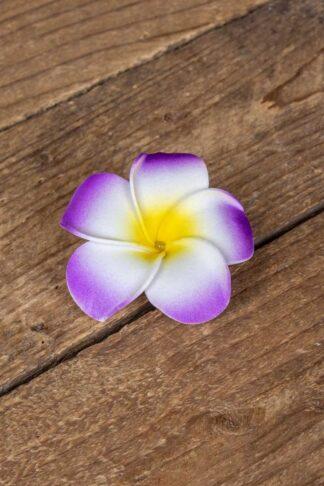 Haarspange Plumeria Hawaii Blüte, lila von Rockabilly Rules