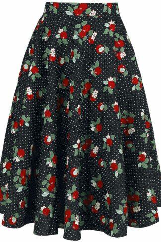 Hell Bunny Apple Blossom 50's Skirt Mittellanger Rock multicolor