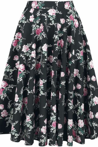 Hell Bunny Lily Rose 50's Skirt Mittellanger Rock multicolor