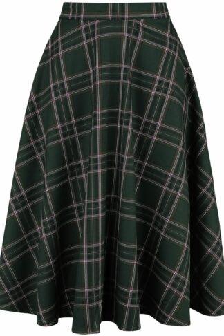 Hell Bunny Miles 50's Skirt Kurzer Rock grün/rosa