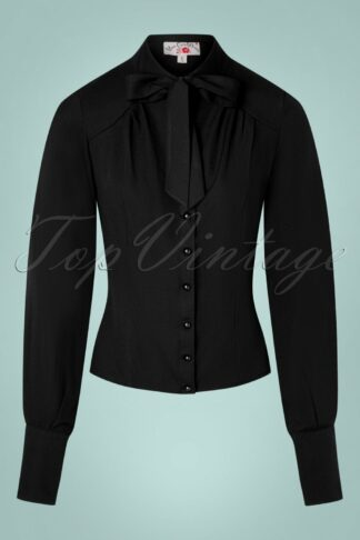 TopVintage exclusive ~ 40s Martane-Brandy Blouse in Black