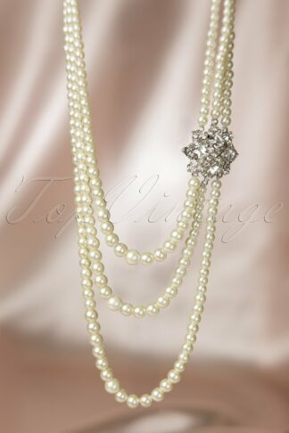 20s Paris Pearls Crystal Necklace