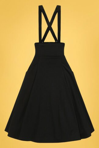50s Alexa Ponte Swing Skirt in Black