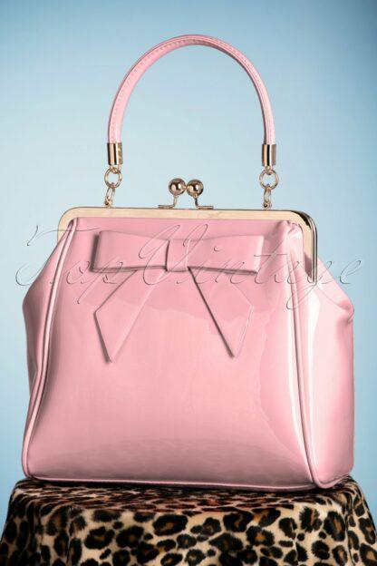 50s American Vintage Patent Bag in Pink