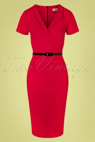 50s Emery Pencil Dress in Ravishing Red