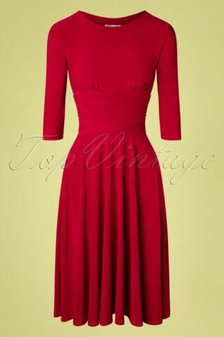 50s Henriette Swing Dress in Red