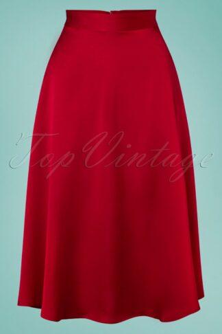 50s Strawberry Swing Skirt in Lipstick Red