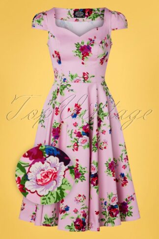 50s The Royal Ballet Tea Dress in Pink