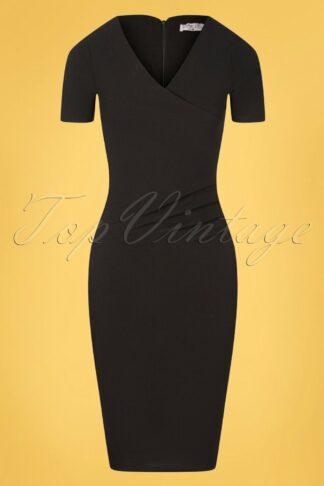 50s Vera Pencil Dress in Black