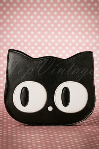 60s Addis The Big Eyed Cat Bag in Black