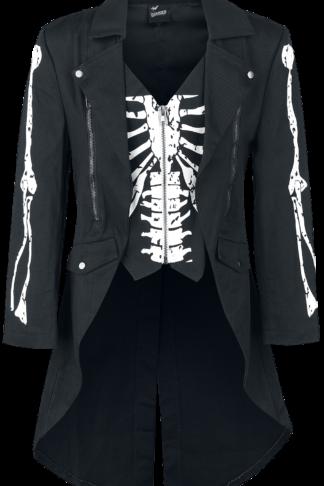 Banned Alternative - Skeleton - Militärmantel - schwarz