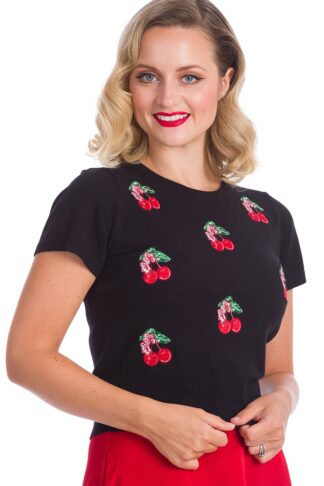 Banned Pullover Kirschen | Cherry Berry von Rockabilly Rules