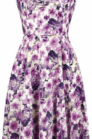 H&R London Enchinacea Floral Swing Dress Mittellanges Kleid lila