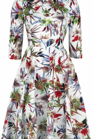 H&R London - Glamorous Hibiscus Dress - Kleid knielang - multicolor - EMP Exklusiv!