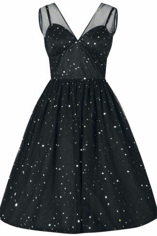 Hell Bunny Infinity 50's Dress Mittellanges Kleid schwarz