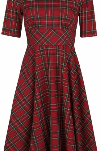 Hell Bunny Irvine 50s Dress Mittellanges Kleid rot