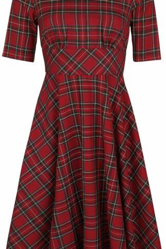 Hell Bunny Irvine 50s Dress Mittellanges Kleid rot