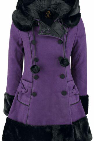 Hell Bunny Sarah Jane Coat Wintermantel lila