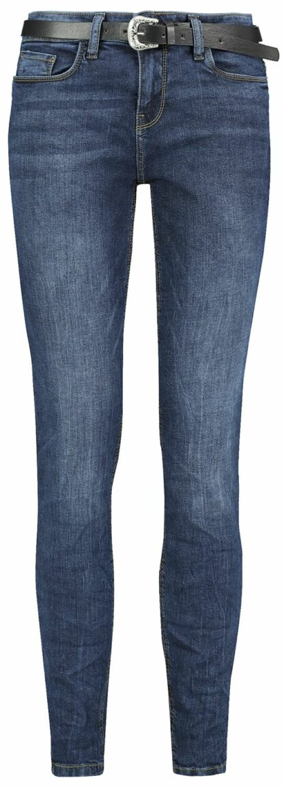 Sublevel Denim Ladies Skinny Denim Trousers Jeans dunkelblau