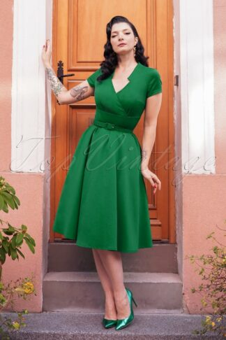 The Chiara Swing Dress in Emerald