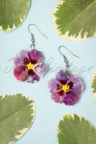 TopVintage exclusive ~ Purple Prose Earrings
