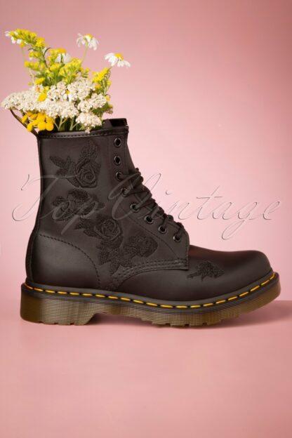 1460 Vonda Softie Floral Boots in Black