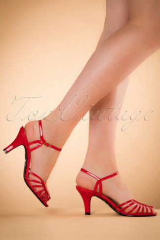 40s Amelia Sandals in Red