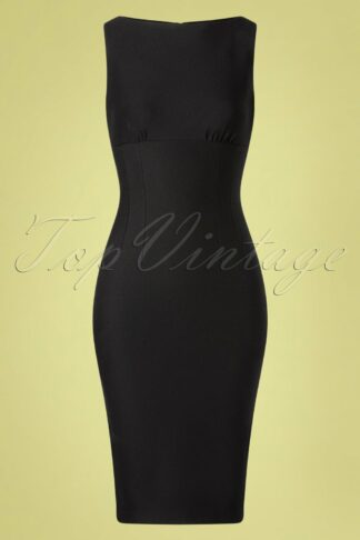 50s April Pencil Dress in Black