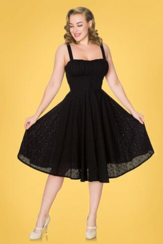 50s Bianca Swing Dress in Black