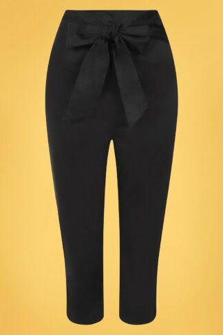 50s Eugenia Capris in Black