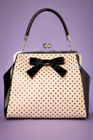 50s Frances Polka Star Bag in Black and Blush