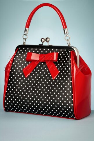 50s Frances Polka Star Bag in Black and Red