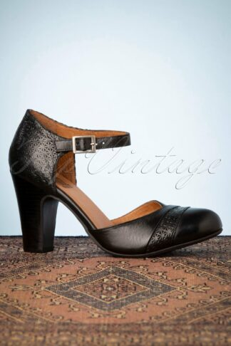 50s Jay Leather Pumps in Black