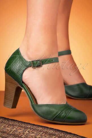 50s Jay Leather Pumps in Kiwi