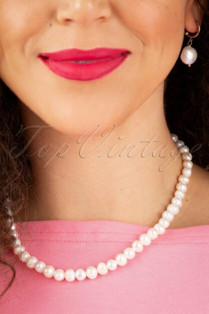 50s Pearls Are A Girl's Best Friend Necklace in Ivory