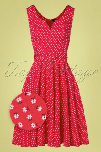 50s Timmy Swing Dress in Red