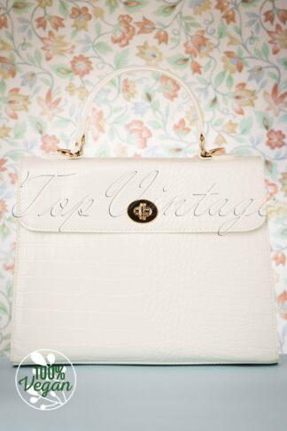 50s Versailles Handbag in Blanc