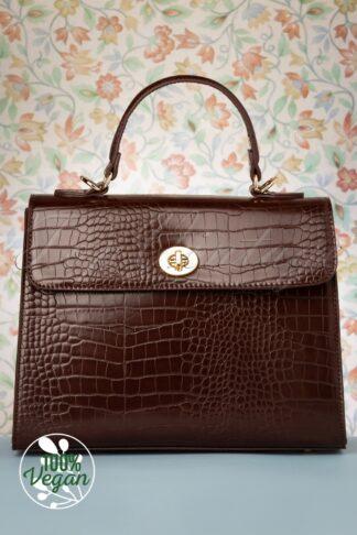 50s Versailles Handbag in Espresso