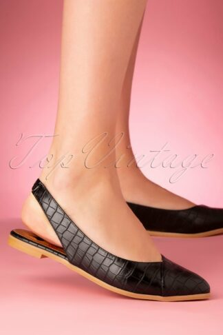 60s Cove Flats in Black