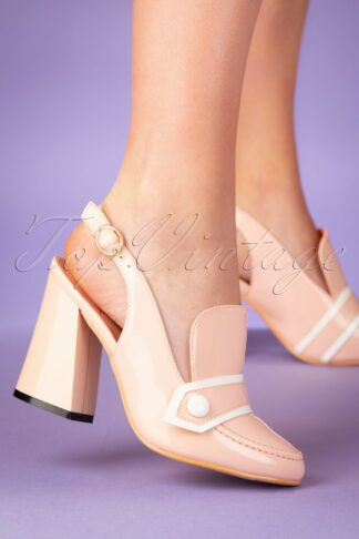 60s Habana Patent Pumps in Blush