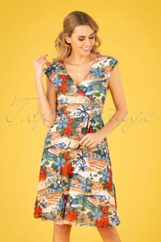 60s Mira Pacino Dress in Cream