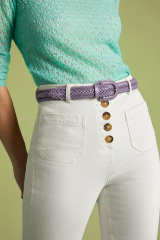 70s Braided Belt in Bourgainville Purple