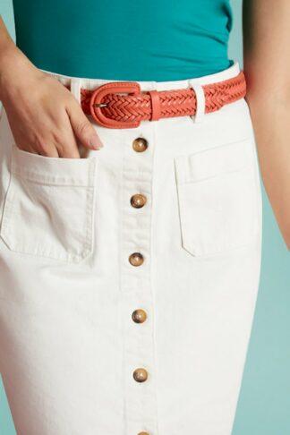 70s Braided Belt in Peach Pink