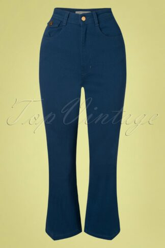 70s Right On Trousers in Blue